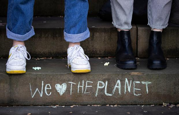 Hot topic: Hundreds of thousands of children have skipped school to take part in climate change protests. Photo: Danny Lawson/PA Wire