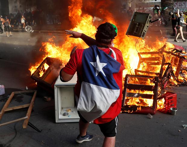 Chile has been racked by civil unrest. Photo: REUTERS/Goran Tomasevic