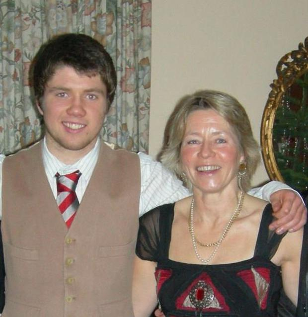 Cillian Mac Donagh pictured with his mother Kirstin