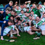 1 December 2019; Ballyhale players celebrate with the cup after the AIB Leinster GAA Hurling Senior Club Championship Final match between Ballyhale Shamrocks and St Mullin's at MW Hire O'Moore Park in Portlaoise, Co Laois. Photo by Piaras Ó Mídheach/Sportsfile