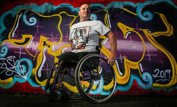 Gerry O'Rourke bounced back from losing his legs as a teenager in a rail accident to represent his country at 2 Paralympic games. Photo: Gerry Mooney