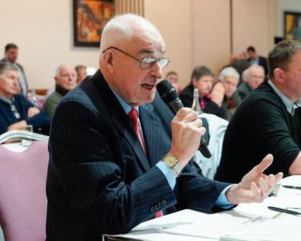 Ned O'Keeffe pictured at the ICMSA AGM in Limerick. Pic: Don Moloney