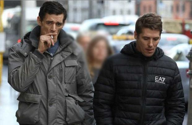 Daniel and Damian Fahy, of Fortlawn Drive, Moat View, Clonsilla, Dublin pictured leaving the Four Courts after a Circuit Civil Court action.Pic: Collins Courts