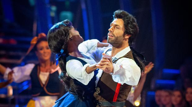 Kelvin Fletcher and Oti Mabuse on Strictly Come Dancing 2019 (Guy Levy/BBC)