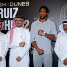 Anthony Joshua at the Centria Mall in Riyadh ahead of the heavyweight rematch with Andy Ruiz Jr at the Diriyah Arena on Saturday. Photo: Nick Potts/PA Wire