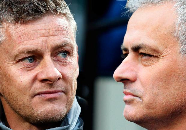 Jose Mourinho is ready to face off with the man who replaced him at Old Trafford, Ole Gunnar Solskjaer. Photo: Getty