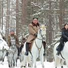 North Korean leader Kim Jong Un rides a horse as he visits battle sites in areas of Mt Paektu, Ryanggang, North Korea, in this undated picture released by North Korea's Central News Agency (KCNA) on December 4, 2019.