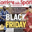 Front cover of Corriere dello Sport 5th December 2019