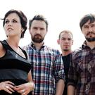 Tragic: The late Dolores O'Riordan with her former bandmates in the Cranberries