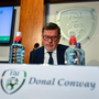 FAI President Donal Conway during a press conference where the association revealed their accounts. Photo by David Fitzgerald/Sportsfile