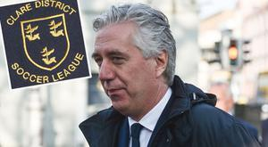 The Clare District League wrote a letter in support of John Delaney earlier this year