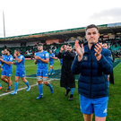 7 December 2019; Jonathan Sexton of Leinster following the Heineken Champions Cup Pool 1 Round 3 match between Northampton Saints and Leinster at Franklins Gardens in Northampton, England. Photo by Ramsey Cardy/Sportsfile