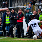 7 December 2019; Kildare manager Jack O'Connor and his selector Ross Glavin look on during the 2020 O'Byrne Cup Round 1 match between Kildare and Longford at St Conleth's Park in Newbridge, Kildare. Photo by Piaras Ó Mídheach/Sportsfile