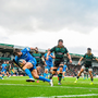 7 December 2019; Ross Byrne of Leinster on his way to scoring his side's fifth try during the Heineken Champions Cup Pool 1 Round 3 match between Northampton Saints and Leinster at Franklins Gardens in Northampton, England. Photo by Ramsey Cardy/Sportsfile