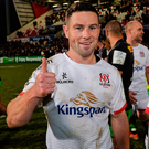 Ulster's fourth victory in succession proved to be the most nail-biting of all, sealed only by virtue of a 79th-minute John Cooney penalty from the opposing 10-metre line. Photo by Oliver McVeigh/Sportsfile