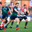 Jack Carty of Connacht kicks clear during the yesterday's Champions Cup clash against Gloucester at Kingsholm Stadium. Photo by Dan Mullan/Getty Images