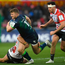 Peter Robb of Connacht is tackled by Franco Marais of Gloucester during yesterday's encounter at Kingsholm Stadium. Photo by Ramsey Cardy/Sportsfile