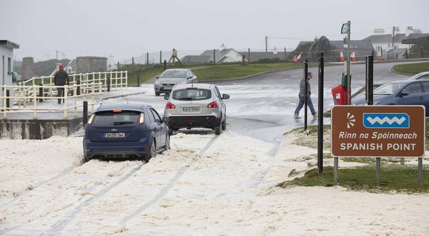 Storm Atiyah aftermath: Around 7,000 without power, roads closed and fallen trees after gusts over 130kmh hit Ireland