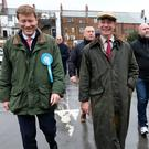Brexit Party leader Nigel Farage and party chairman Richard Tice campaign together in Hartlepool recently. Photo: Ian Forsyth/Getty Images