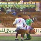 A screen-grab of action from the 1989 game in Benghazi when a Libyan club faced a combined Bohs/St Pat's XI.