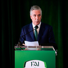 John Delaney: His reign at the FAI has put their finances in the spotlight. Photo by Stephen McCarthy/Sportsfile
