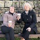 Significant: Undecided voters Andrea and Jane in Low Bradfield, Yorkshire, part of a constituency that will be vital to win