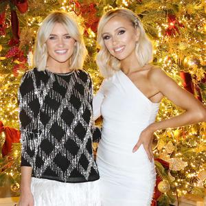 Niamh Cullen and Rosie Connolly at the River Island Christmas Dinner at Luttrellstown Castle. Picture: Photocall Ireland