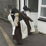 Sr Irene Gibson, Carmelite Nun of the Holy Face of Jesus pictured leaving Skibbereen District Court (carrying a 'Child of Prague' religious statue) and Sr Anne Marie of the Holy Family Carmelite Hermitage, Leap, Co Cork. Pic Daragh Mc Sweeney/Cork Courts
