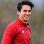 Joey Carbery was all smiles at Munster training in Limerick yesterday. Photo by Matt Browne/Sportsfile