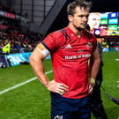 Arno Botha saw red in the closing stages of Munster's win over Saracens. Photo by Brendan Moran/Sportsfile