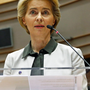 European Commission President Ursula von der Leyen speaks during an extraordinary session to present a Green Deal plan, at the European Parliament in Brussels. Photo: Francois Lenoir/Reuters