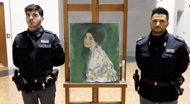 Stolen Klimt masterpiece found hidden behind ivy