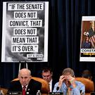 Representative Louie Gohmert, a Republican from Texas, left, and Representative Jim Jordan, a Republican from Ohio, listen during a House Judiciary Committee hearing in Washington, D.C., U.S., December 12, 2019. Andrew Harrer/Pool via REUTERS