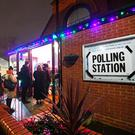 Voters queue outside St Andrews Church polling station in Balham, south London, just hours before voting closes for the 2019 General Election. PA Photo. Picture date: Thursday December 12, 2019. See PA story POLITICS Election. Photo credit should read: Victoria Jones/PA Wire