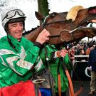 Presenting Percy came home lame after disappointing when favourite in this year's Cheltenham Gold Cup and Reynolds admitted that 'it would have been an awful pity for the dream to have ended the way'. Photo: Matt Browne/Sportsfile