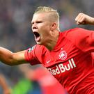 Salzburg hitman Erling Braut Haaland. Photo: AFP via Getty Images