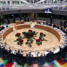 Round table talks: Leaders gather in Brussels for the EU summit. Photo: Reuters