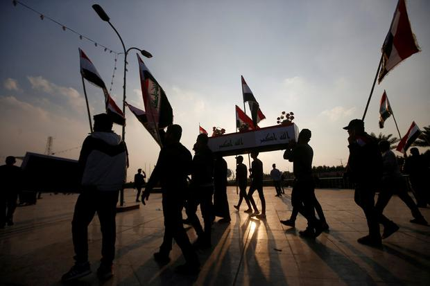 Iraq protesters form 'mini-state' in Baghdad's Tahrir Square