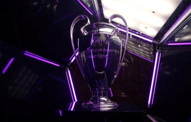 General view of Champions League trophy on display. REUTERS/David Klein