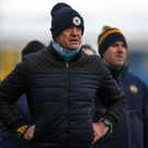 Offaly manager John Maughan looks on during his side's win over Louth in the O'Byrne Cup. Photo by Harry Murphy/Sportsfile