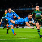 Dave Kearney scored one of Leinster's seven tries in the 50-21 win over Northampton Saints. Photo by Stephen McCarthy/Sportsfile