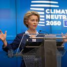 Climate strategy: European Council President Ursula von der Leyen speaks during a media conference during an EU summit in Brussels last Friday. Photo: AP Photo/Virginia Mayo