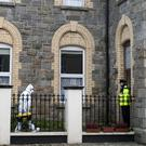 Assault: Gardai investigating the incident in Arklow, Co Wicklow, yesterday. Photo: Garry O'Neill