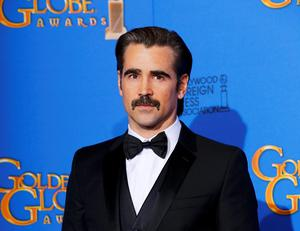 Actor Colin Farrell poses backstage during the 72nd Golden Globe Awards