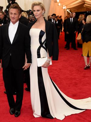 """Sean Penn and Charlize Theron attend the """"Charles James: Beyond Fashion"""" Costume Institute Gala at the Metropolitan Museum of Art"""