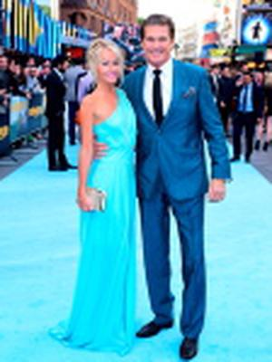 David Hasselhoff and Hayley Roberts attending the European premiere of Entourage at Vue West End, Leicester Square, London. Photo: Ian West/PA Wire