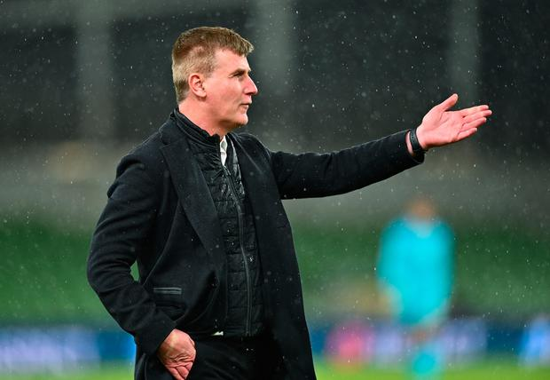 Ireland manager Stephen Kenny during the closing stages of the World Cup 2022 qualifying defeat to Luxembourg at the Aviva Stadium in Dublin. Photo by Eóin Noonan/Sportsfile