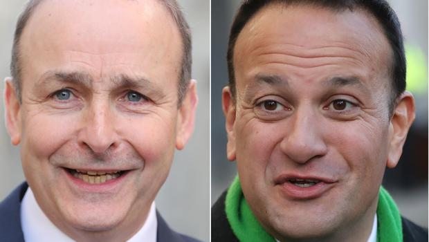 Micheal Martin and Leo Varadkar. Photo: PA