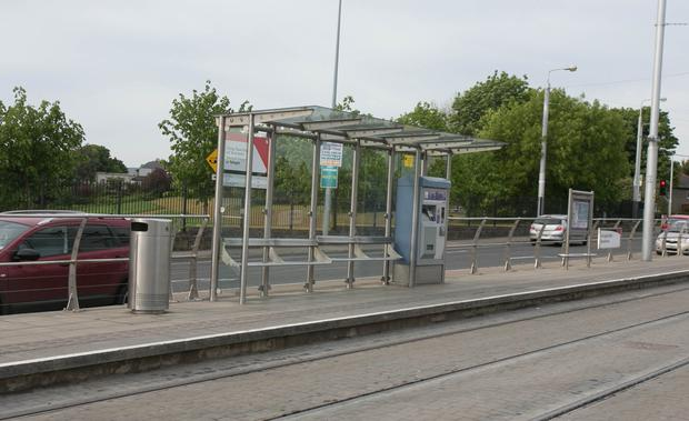 The Blackhorse Luas stop near where the attack took place