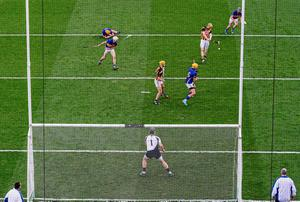 Richie Power, Kilkenny, shoots to score his side's first goal of the game